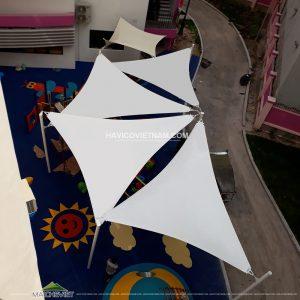 Chất liệu bạt HDPE 340 làm mái che cánh buồm che nắng